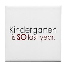 Funny Kindergarten Grad Tile Coaster
