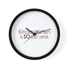 Funny Kindergarten Grad Wall Clock