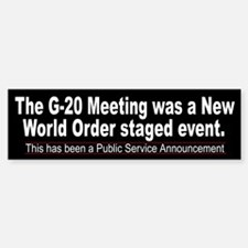 G-20 NWO Staged Event
