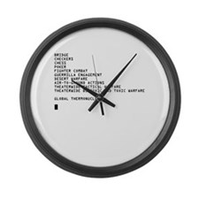 Global Thermonuclear War T-Sh Large Wall Clock