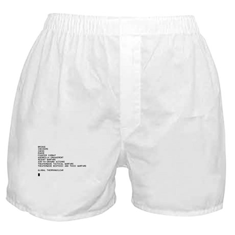 Global Thermonuclear War T-Sh Boxer Shorts