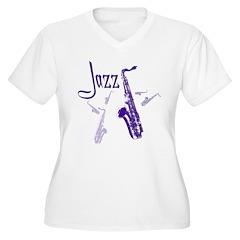 Jazz Saxophone Purple T-Shirt