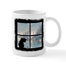 Cat in Window Small Mug