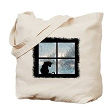 Cat in Window Tote Bag
