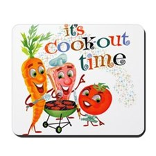 Cook-Out Time Mousepad