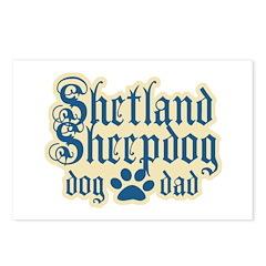 Shetland Sheepdog Dad Postcards (Package of 8)