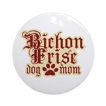 Bichon Frise Mom Ornament (Round)
