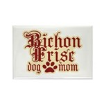 Bichon Frise Mom Rectangle Magnet (10 pack)