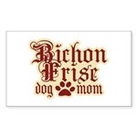 Bichon Frise Mom Sticker (Rectangle)
