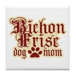 Bichon Frise Mom Tile Coaster