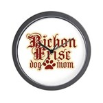 Bichon Frise Mom Wall Clock