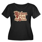 Bichon Frise Mom Women's Plus Size Scoop Neck Dark