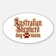 Australian Shepherd Mom Sticker (Oval 10 pk)