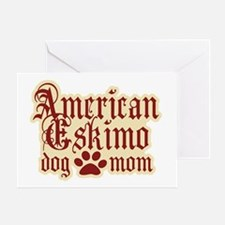 American Eskimo Mom Greeting Card