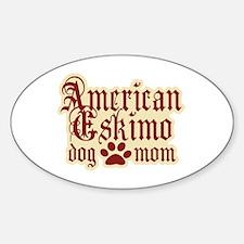 American Eskimo Mom Sticker (Oval)