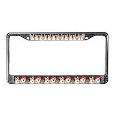 Corgi Christmas License Plate Frame