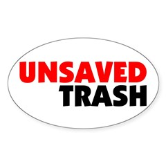 Unsaved Trash Oval Decal
