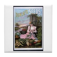 Dunlap's Seeds Tile Coaster