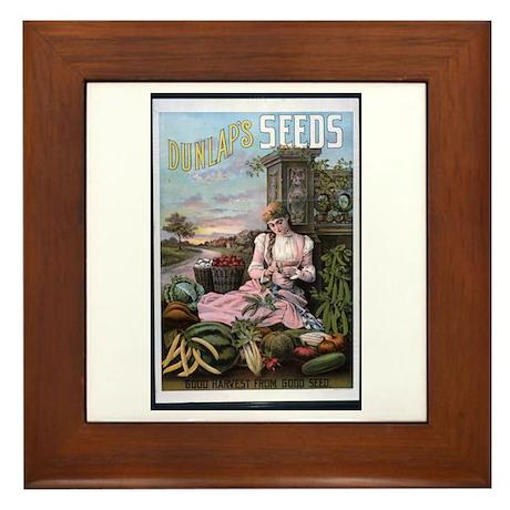 Dunlap's Seeds Framed Tile