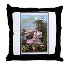 Dunlap's Seeds Throw Pillow