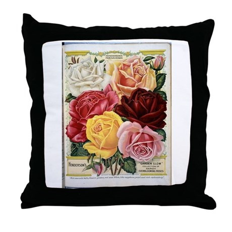 Henderson's Famous Roses Throw Pillow
