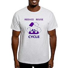 <b>Reduce Reuse Cyle - Purple T-Shirt
