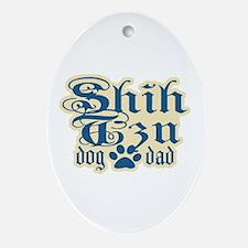 Shih Tzu Dad Ornament (Oval)