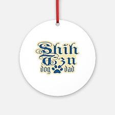 Shih Tzu Dad Ornament (Round)