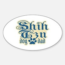 Shih Tzu Dad Sticker (Oval)