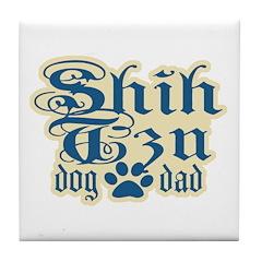 Shih Tzu Dad Tile Coaster