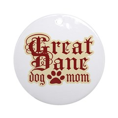 Great Dane Mom Ornament (Round)