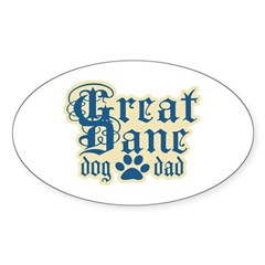 Great Dane Dad Decal