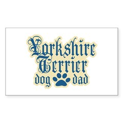 Yorkshire Terrier Dad Decal