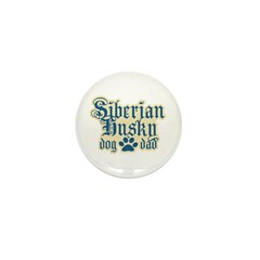 Siberian Husky Dad Mini Button (100 pack)