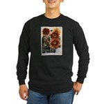Henderson's Sunflower Long Sleeve Dark T-Shirt