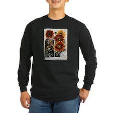 Henderson's Sunflower Long Sleeve Dark T-Shirt