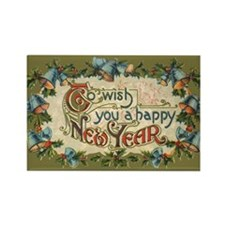 Vintage New Year's Eve Rectangle Magnet (10 pack)
