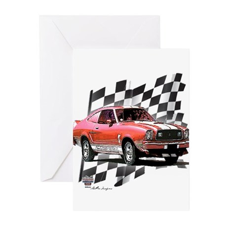 Mustang 1974 - 1978 Greeting Cards (Pk of 10)