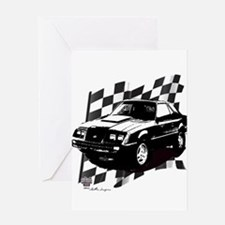 Mustang 1983 - 1984 Greeting Card