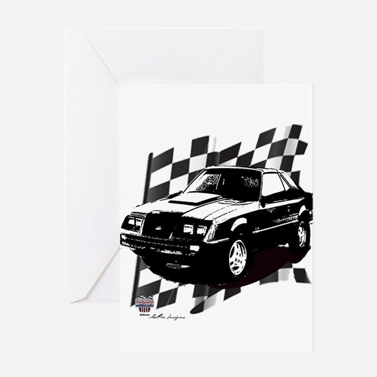 Mustang 1983 - 1984 Greeting Card