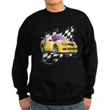 1999 2004 mens yellow mustang Sweatshirt (dark)