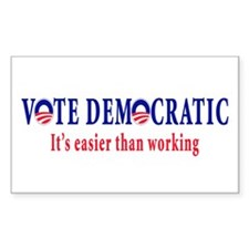 Vote Democratic It's Easier T Rectangle Decal