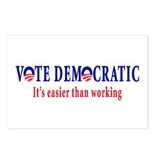 Vote Democratic It's Easier T Postcards (Package o