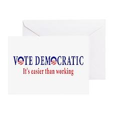 Vote Democratic It's Easier T Greeting Card