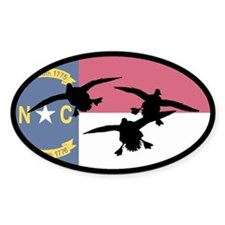 North Carolina Ducks Oval Decal
