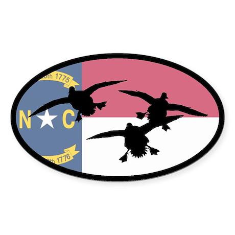 North Carolina Ducks Oval Sticker