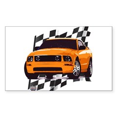 Mustang 2005 - 2009 Rectangle Decal