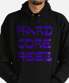 Hard Core Hebrew Shalom Blue Hoodie