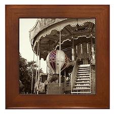 Paris Carousel Framed Tile