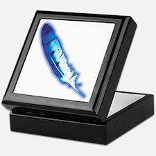 Blue Feather Keepsake Box